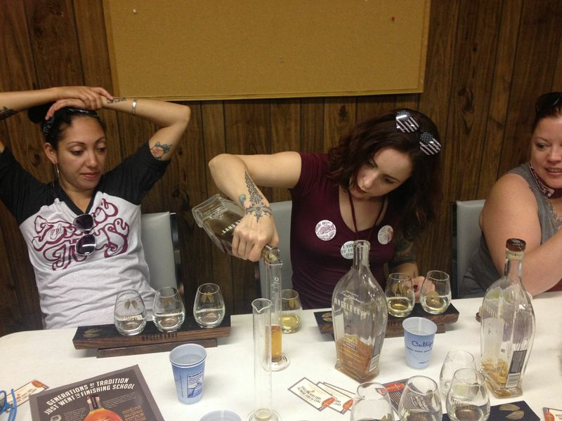 Campers participating in a blending session.