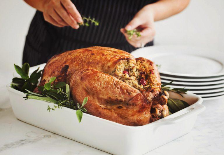 Preparing Roast Turkey