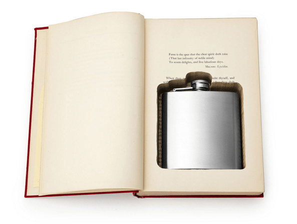 Flask in a book
